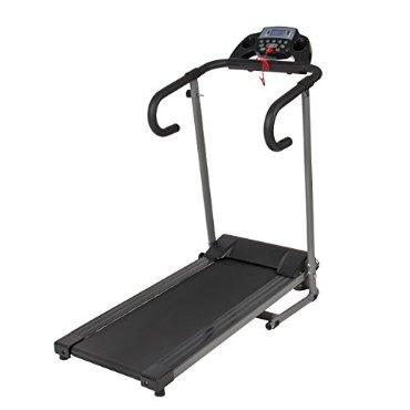 1100W Folding Electric Treadmill Portable Motorized Running Machine Black
