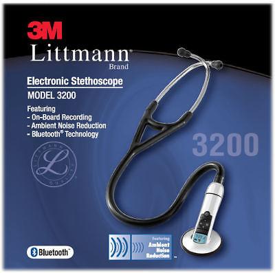 3M Littmann 3200 Electronic Stethoscope (Black)