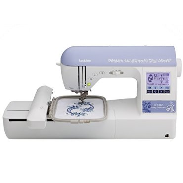 Brother SE1800 Sewing & Embroidery Machine With 136 Built-In Embroidery Designs, 6 Fonts, 184 Sewing Stitches, 5x7 Embroidery Field, Built-In Memory, 11 Sewing Feet, & Including Machine Case