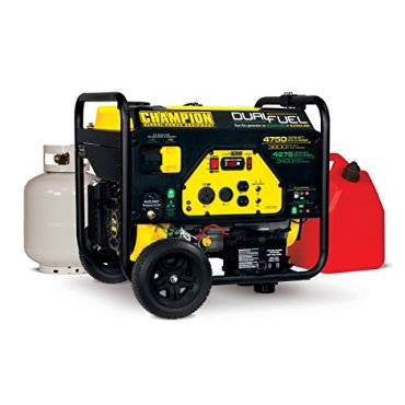 Champion Power Equipment 76533 Dual Fuel 3800/4750-Watt Portable Generator w/Electric Start (CARB Compliant)