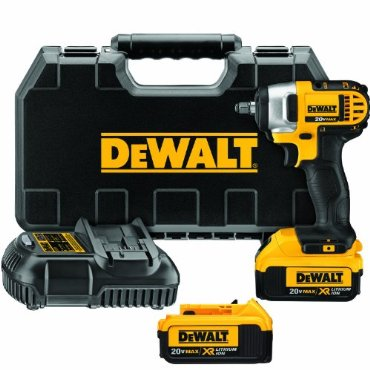 DeWalt DCF883M2 20-volt MAX Lithium Ion 3/8 Impact Wrench Kit with Hog Ring