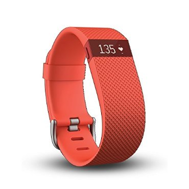Fitbit Charge HR Wireless Activity Wristband (Tangerine, Large)