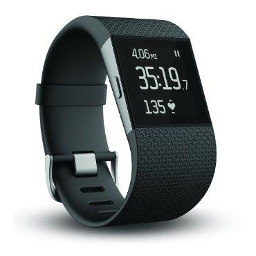 Fitbit Surge Fitness Superwatch (Black, XL)