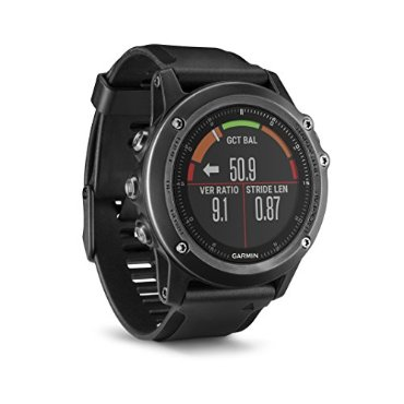 Garmin Fenix 3 HR (Watch Only, Gray with Black Rubber Band)