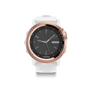 Garmin Fenix 3 Sapphire (Rose Gold with White Rubber Band)
