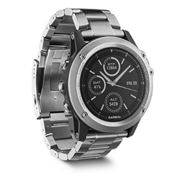 Garmin Fenix 3 Sapphire (Watch Only, Titanium Band and Rubber Band)