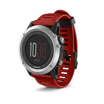Garmin fenix 3 (Silver with Red Rubber Band)