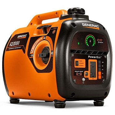 Generac iQ2000 Ultra-Quiet Portable Inverter Gas Generator (2000-Watt, Carb Compliant)