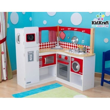 Kidkraft Wooden Corner Kitchen (Red)