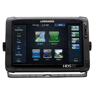 Lowrance HDS-12 Gen2 Touch with 12 Touchscreen LCD w/ Built-In Sounder and 83/200KHz Transducer (000-10776-001)