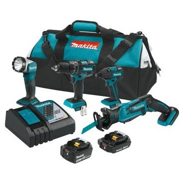 Makita XT444MR 18V LXT Lithium-Ion Brushless Kit (4 Piece)