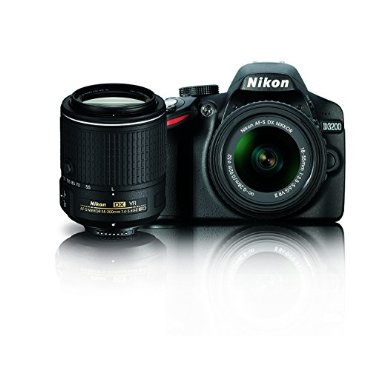 Nikon D3200 24.2 MP CMOS Digital SLR Camera with 18-55mm and 55-200mm VR DX Zoom Lenses Bundle