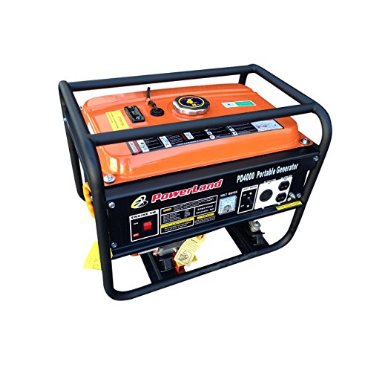 Powerland PD4000 4000-watt Portable Gas Generator, 7.5 HP