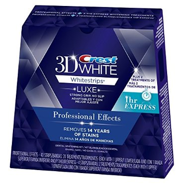 Crest 3D White Luxe Whitestrips Professional Effects 20 Treatments + 3D White Whitestrips 1 Hour Express 2 Treatments - Teeth Whitening Kit