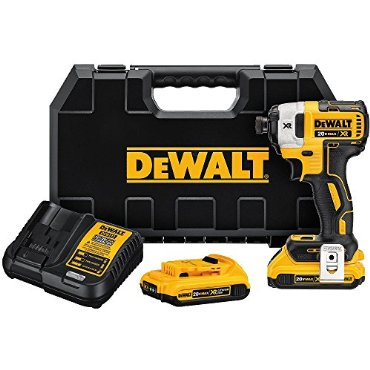 DeWalt DCF887D2 20V MAX XR Li-ion 2.0 Ah Brushless 0.25 3-Speed Impact Driver Kit