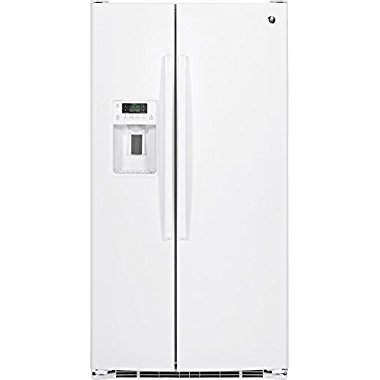 GE GSE25GGHWW 36 Side-by-Side Refrigerator with 25.4 cu. ft. Capacity (White)