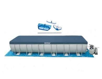 Intex 24' x 12' x 52 Ultra Frame Rectangular Swimming Pool Set (28365EH)