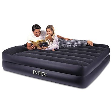 Intex Pillow Rest Queen Airbed with Built-In Pump (67701E)