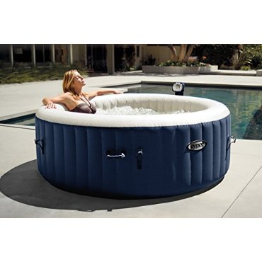 Intex PureSpa Plus Bubble Massage 4-Person Inflatable Portable Hot Tub (28405E)