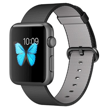 Apple Watch Sport with 42mm Woven Nylon Band (Space Grey Aluminum Case, MMFR2LL/A)