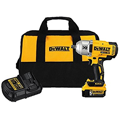 DeWalt DCF899P1 20V MAX XR Brushless High Torque 1/2 Impact Wrench Kit with Detent Anvil