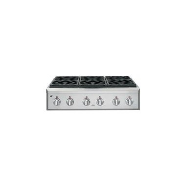 GE Cafe CGU366SEHSS 36 Black Gas Sealed Burner Cooktop