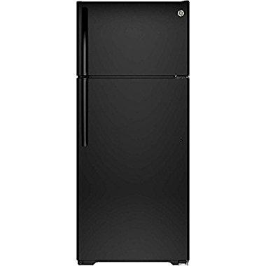GE GTS18GTHBB 17.5 cu. ft. Top Freezer Refrigerator (Black)