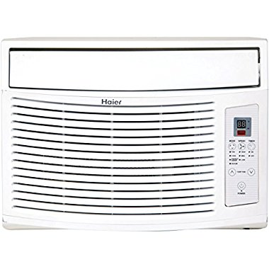 Haier ESA410K 10,000 BTU 115V Window-Mounted Air Conditioner and MagnaClik Remote with Braille