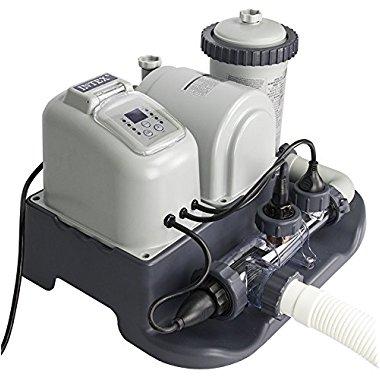 Intex 28671EG Krystal Clear 1,200 GPH Cartridge Filter Pump & Saltwater System