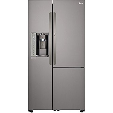 LG LSXS26366D 26 cu. ft. Side-By-Side Refrigerator (Black Stainless Steel)
