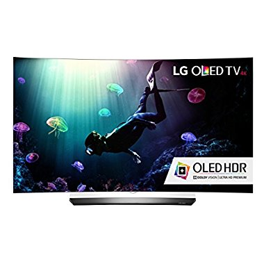 LG OLED55C6P Curved 55 4K Ultra HD HDR Smart OLED TV (2016 Model)