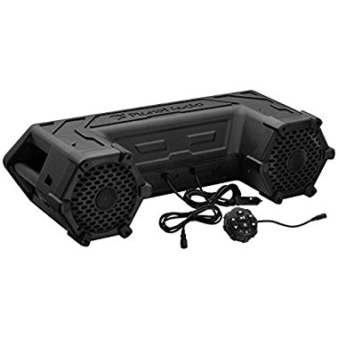 Planet Audio PATV65 Powersports Plug and Play Audio System with Weatherproof 6.5 Speakers, Built in 450 Watt Amp and LED Light Bar