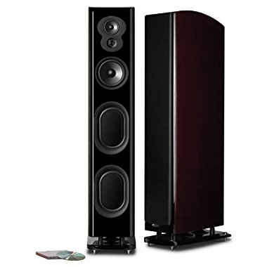 Polk Audio LSiM707 Loudspeaker (Midnight Mahogany, Each)