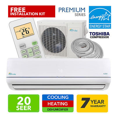 Senville SENA-18HF-Z 18000 BTU  20 SEER Split Air Conditioner and Heat Pump, Mini