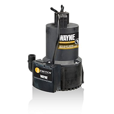 Wayne EEAUP250 1/4HP Automatic ON/OFF Electric Water Removal Pump