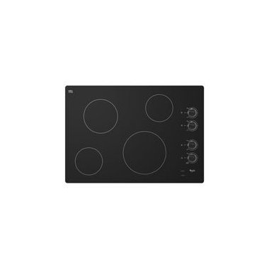 Whirlpool W5CE3024XB 30 Black Electric Smoothtop Cooktop