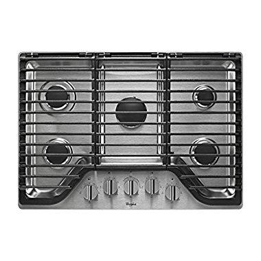 Whirlpool WCG97US0DS 30 Stainless 5 Burner Gas Cooktop