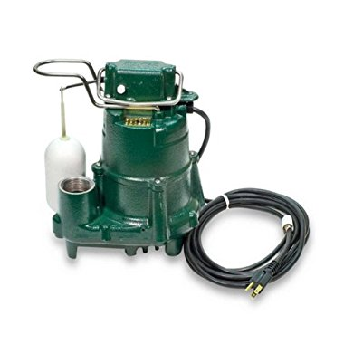 Zoeller M98 Flow-Mate Cast Iron 1/2HP Submersible Sump Pump with Vertical Float Switch (98-001)