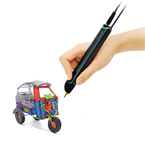 3Doodler Create 3D Pen With 50 Plastic Strands, No Mess, Non-Toxic, Smoky Blue
