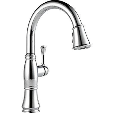 Delta Faucets Cassidy Single Handle Kitchen Faucet, Venetian Bronze