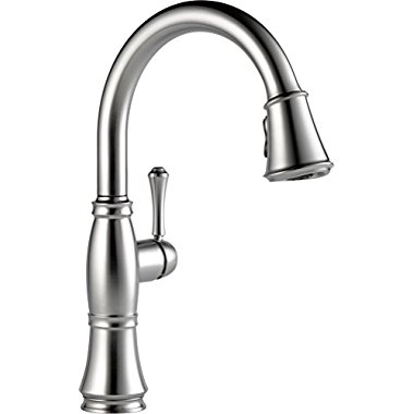 Delta Faucets Cassidy Single Handle Kitchen Faucet, Arctic Stainless