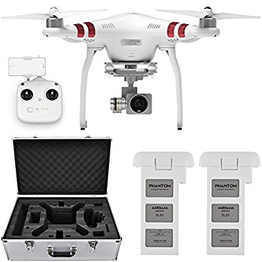DJI Phantom 3 Standard Quadcopter Drone w/ 2.7K Camera + Extra Battery and Hard Case