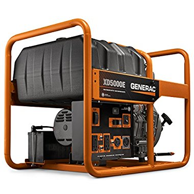 Generac XD5000E 5500-Watt Diesel Portable Generator with Electric Start (6864)