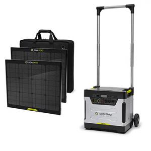 Goal Zero Yeti 1250 Solar Generator Kit with 2 Boulder Solar Panels (39004)