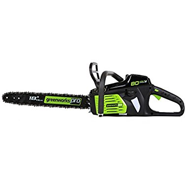 GreenWorks Pro GCS80450 80V 18 Cordless Chainsaw, Battery and Charger Not Included