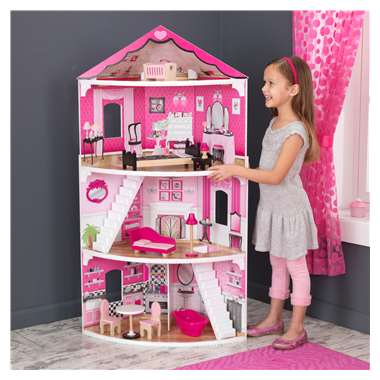 KidKraft Think Pink Corner Dollhouse