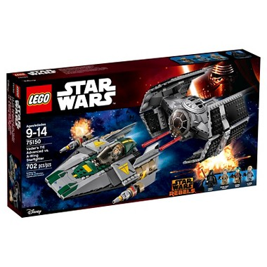 Lego Star Wars Vader's Tie Advanced vs. A-Wing Starfighter (75150)
