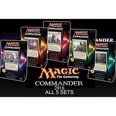 Magic The Gathering Commander 2016 Set (All 5 Decks)