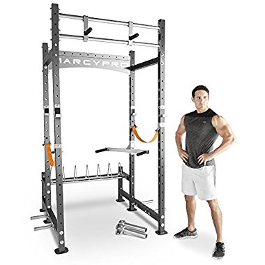 Marcy Pro Heavy-Duty Power Rack Home Gym Cross Fit Training Area