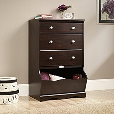 NEW Sauder Furniture 417675 Pogo Collection Kids 3-Drawer Chest in Jamocha Wood